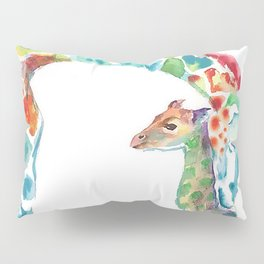 Mummy and Baby Giraffe College Dorm Decor Pillow Sham