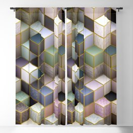 Cubes in Pastels Blackout Curtain