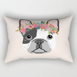French Bulldog dog breed floral crown frenchies lover pure breed gifts Rectangular Pillow