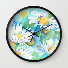 Happy Daisies Wall Clock