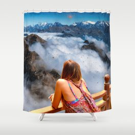 On the top Shower Curtain