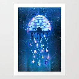 Christmas Jellyfish Art Print
