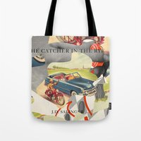 catcher in the rye Tote Bags featuring Catcher in the Rye by all2
