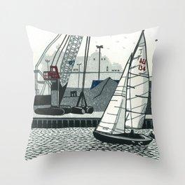 Poole Quay Throw Pillow
