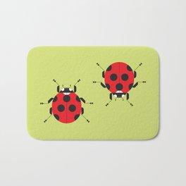 Lady Bug Yellow Bath Mat