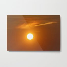 Glowing Sun Metal Print
