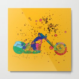 ap127-8 Motorcycle Metal Print