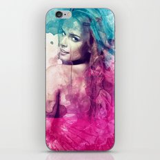 Woman in Splash of Watercolor iPhone & iPod Skin