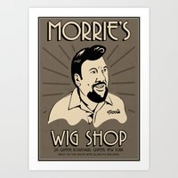 goodfellas Art Prints featuring Goodfellas, Morrie's Wigs Shop Sign  by Creative Spectator