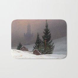 Caspar David Friedrich Winter Landscape Bath Mat