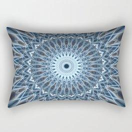 Frozen mandala in white and blue tones Rectangular Pillow