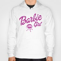 barbie Hoodies featuring Barbie girl by Deep-fried Kiwi