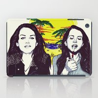 ultraviolence iPad Cases featuring THE ULTRAVIOLENCE GIRL by Robert Red ART