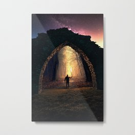 The Portal at Castle Ruins in Sweden Metal Print