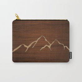 Carved Mountians Carry-All Pouch