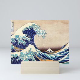 Katsushika Hokusai The Great Wave Off Kanagawa Mini Art Print