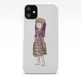 People of Thailand - Bored Hmong Girl  iPhone Case