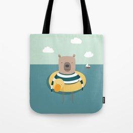 Bear in the Sea Tote Bag