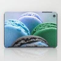 macaroons iPad Cases featuring MACAROONS Blue Aqua Turquoise by WhimsyRomance&Fun