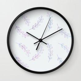 Cute leaves Wall Clock