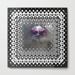Foggy Square Point of View Metal Print