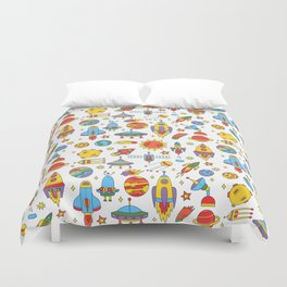 Outer space cosmos pattern Duvet Cover