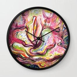 Floral Eros Magical Ecstatic Painting Wall Clock