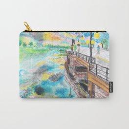 El cielo reflejado bajo un puente Carry-All Pouch