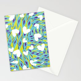 Urban hearts and tribal diamonds Stationery Cards