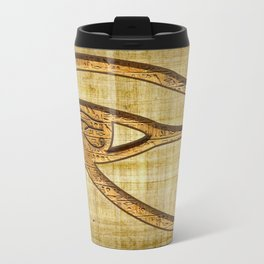 The Wadjet - Ancient Egyptian Eye of Horus Travel Mug