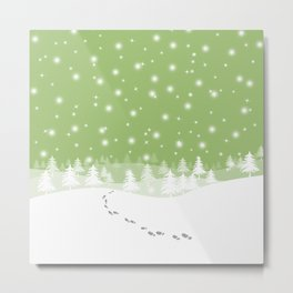 ahns snow 003 Metal Print