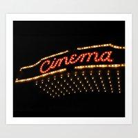 cinema Art Prints featuring Cinema by Kathleen Casey