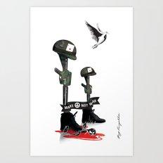War Peace Art Print
