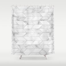 Style of Tile - Marble Shower Curtain