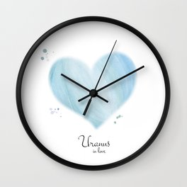 Uranus in love Wall Clock