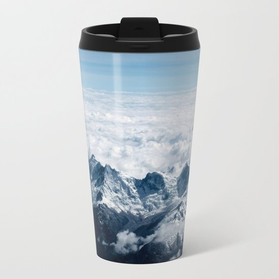 High Mountains #clouds Metal Travel Mug