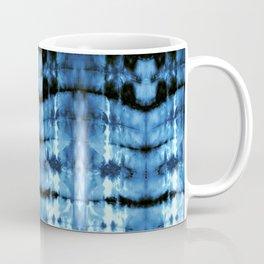 Indigo Satin Shibori Coffee Mug