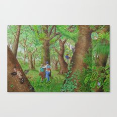 A Day of Forest (3). (Observe the tree) Canvas Print