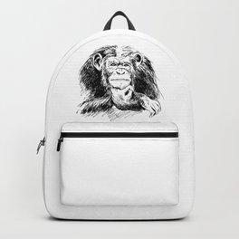 Drawing Chimpanzee Backpack