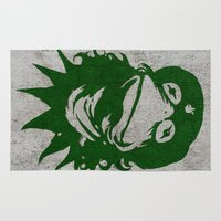 kermit Area & Throw Rugs featuring Viva la Frog! by 6amcrisis