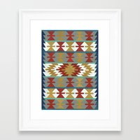 kilim Framed Art Prints featuring kilim II by Amylin Loglisci