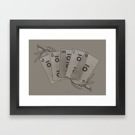 Domio Deck of Cards Framed Art Print