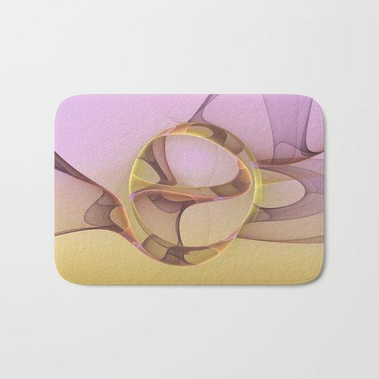 Abstract Motions, Modern Fractal Art Bath Mat