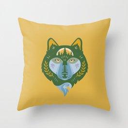 Takaya, Gold Throw Pillow