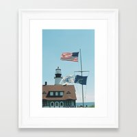 maine Framed Art Prints featuring Maine by Jessica Krzywicki