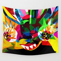 diablo Wall Tapestries featuring diablo 2 by Alvaro Tapia Hidalgo