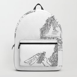 Alice Drink Me Bottle Alice in Wonderland in White with Transparent Background Backpack