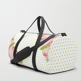 Peonies & Polka Dots Duffle Bag