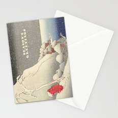 In the snow at Tsukahara on Sado Island  Stationery Cards
