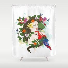 Goddess Amazon Shower Curtain